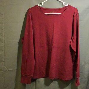 EDDIE BAUER women's winter under shirt sz XL red